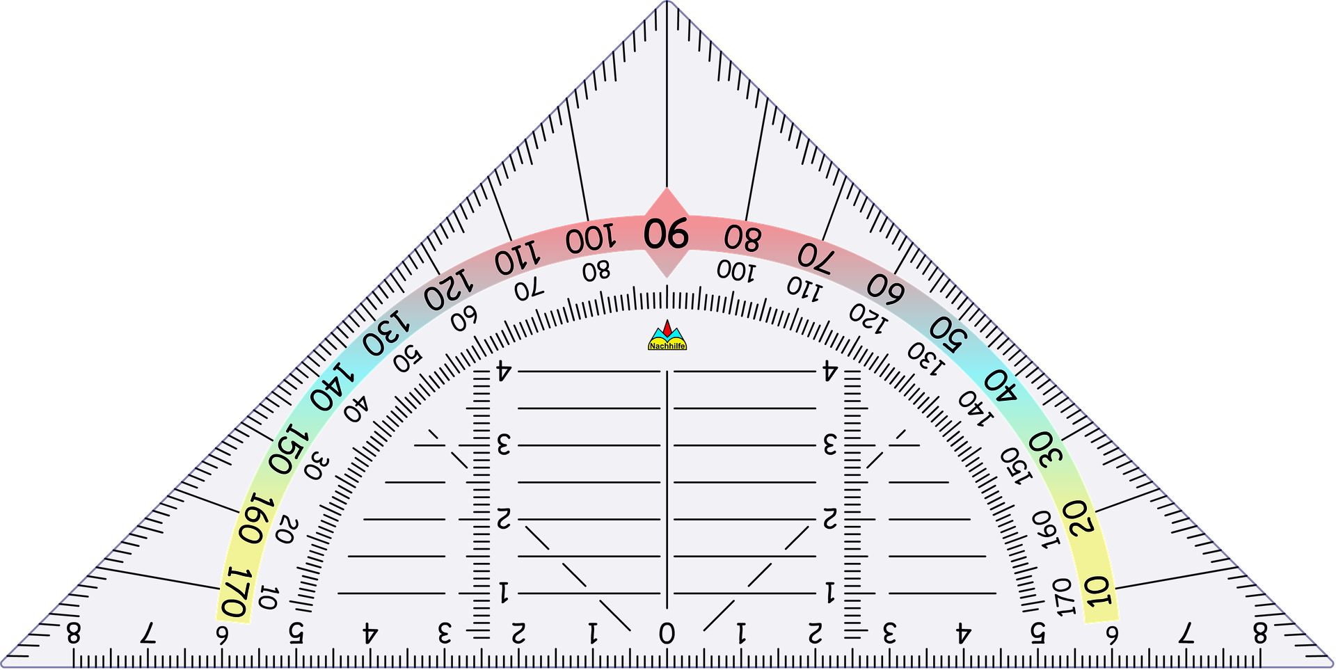 三角定規の画像