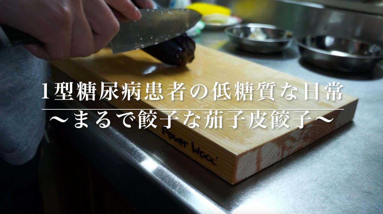 ロカボ飯 まるで餃子な茄子皮餃子