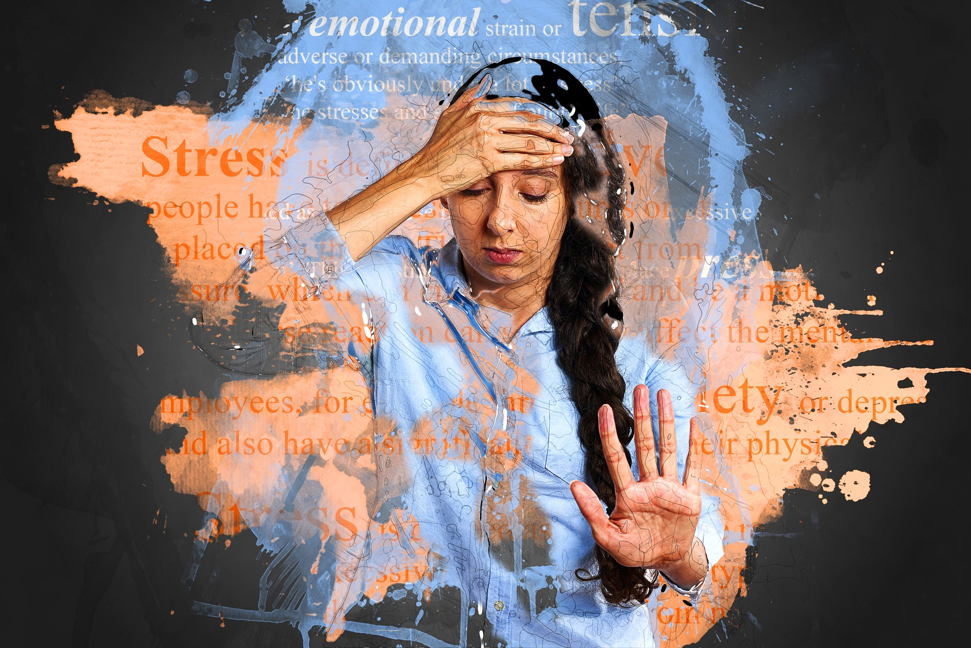 ストレスを抱えている外国人女性