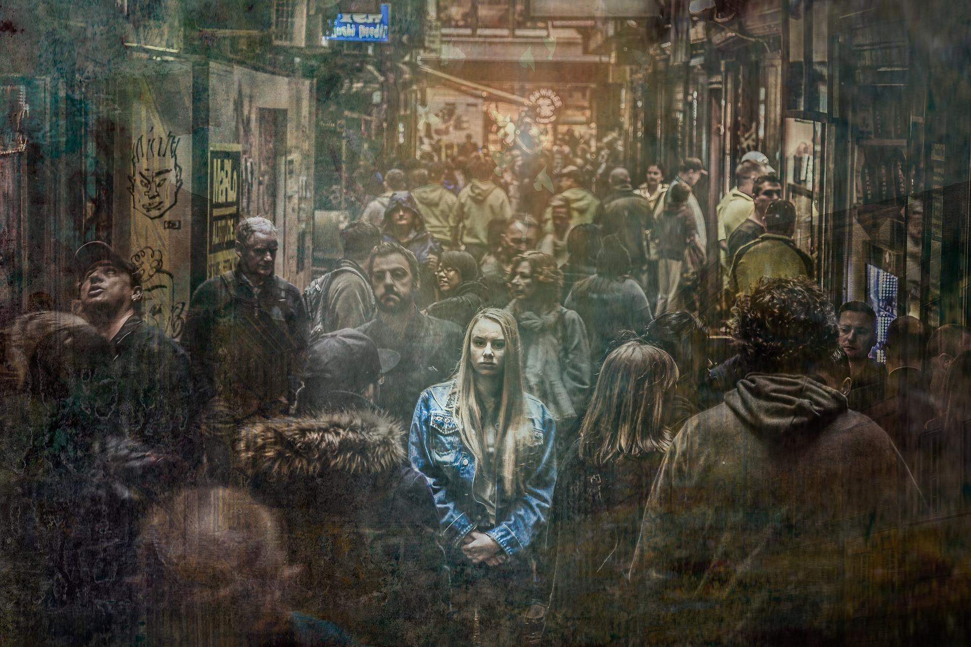 孤独な外国人女性の画像