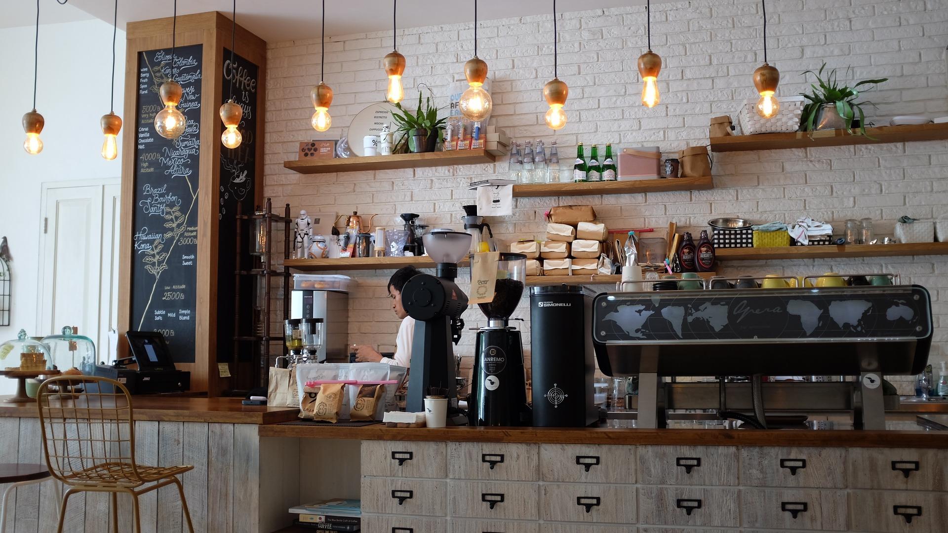 コーヒーショップの画像