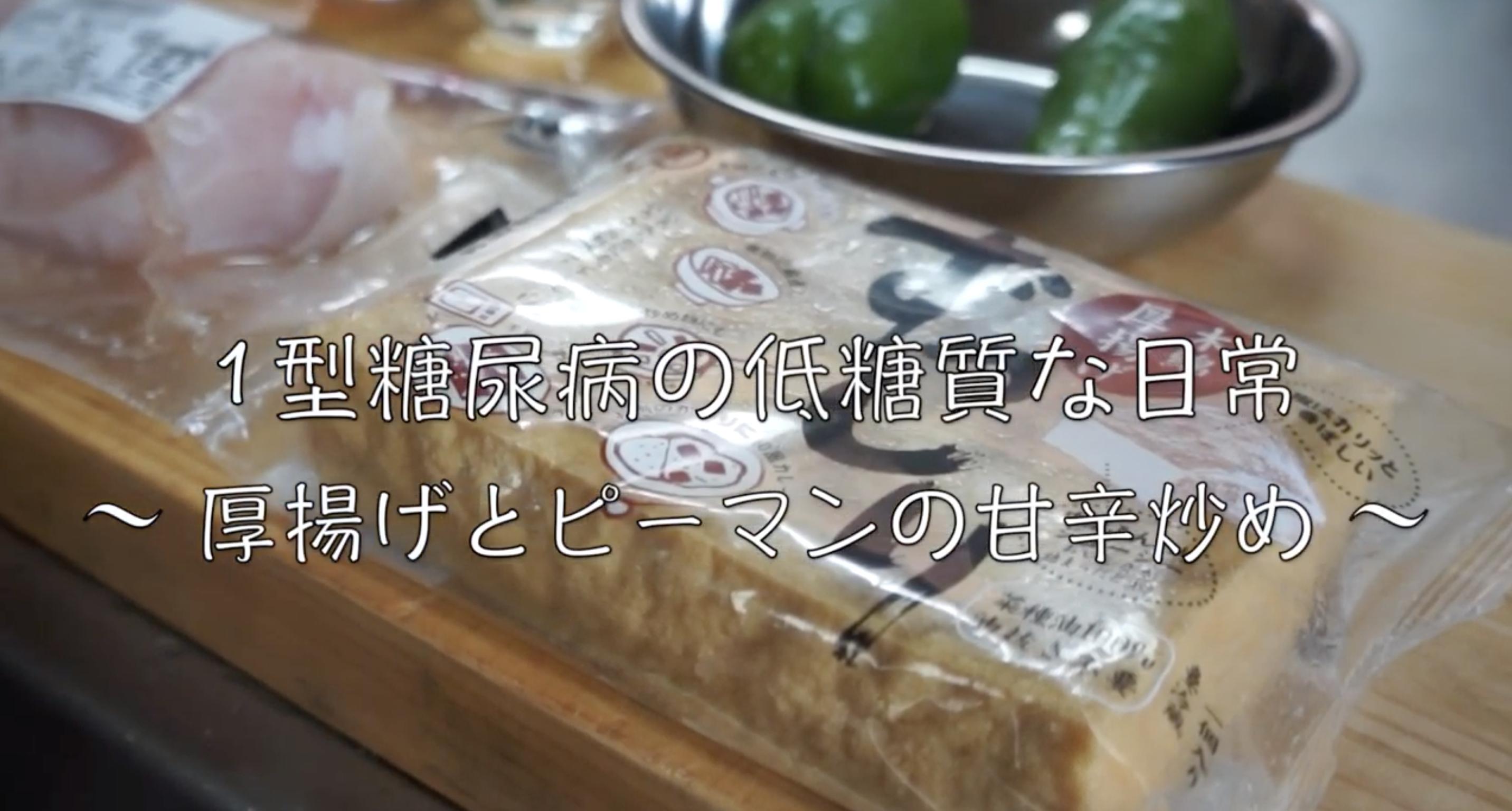 厚揚げ ピーマン レシピ 低糖質