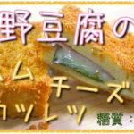 【低糖質パン粉レシピ】糖質0ハムで「高野豆腐のハムチーズカツレツ」動画(有)】