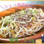 【節約レシピ】100円以下で作れる!「挽き肉ともやしのチーズ炒め」【動画(有)】