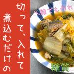 【糖質制限ダイエット】誰でも作れる!「サバ缶と白菜のピリ辛煮」【動画(有)】