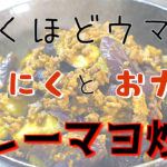 【大人気レシピ】材料2つで超簡単!「ひき肉とナスのカレーマヨ炒め」【動画(有)】