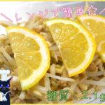 【レンジで簡単】あと1品にオススメ!「ツナ缶ともやしのレモンマリネ」【動画(有)】