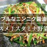 【オススメレシピ】暑さに打ち勝つ!「スタミナ野菜炒め」【動画(有)】
