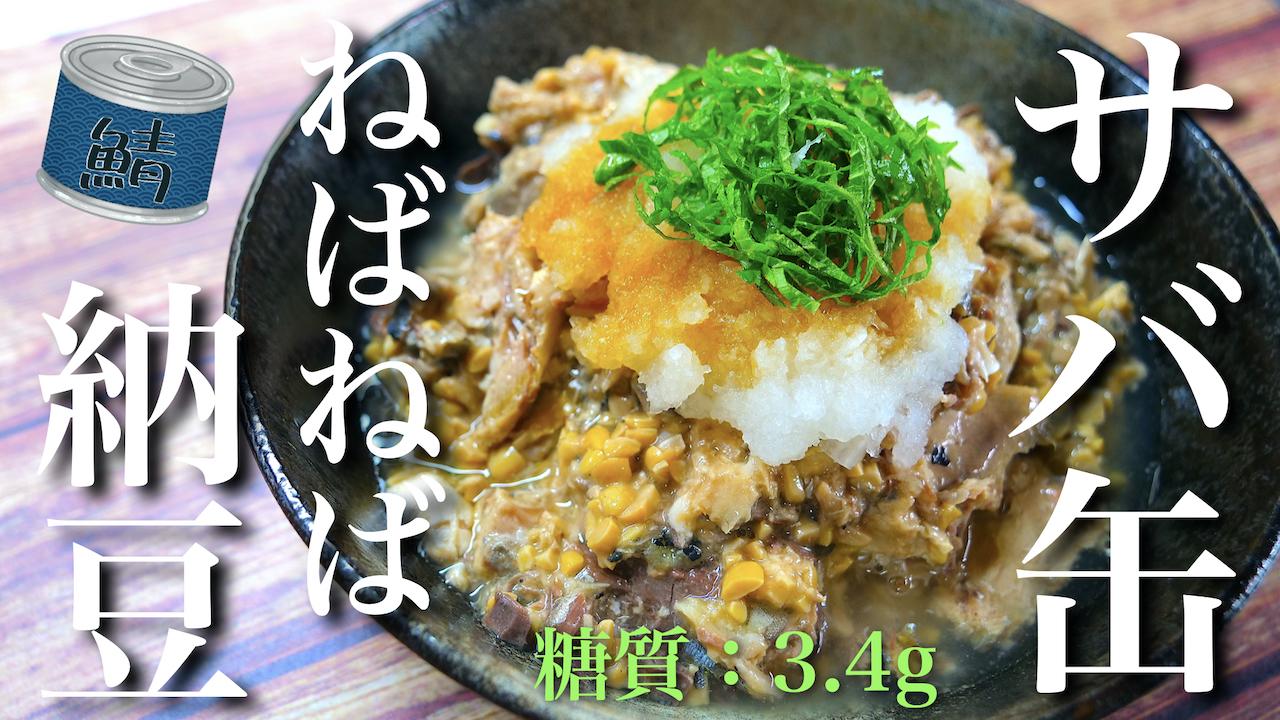 サバ缶 納豆 レシピ 低糖質