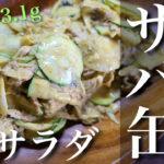 【火を使わない簡単調理!】「サバ缶とズッキーニのカレーマヨサラダ」【動画(有)】