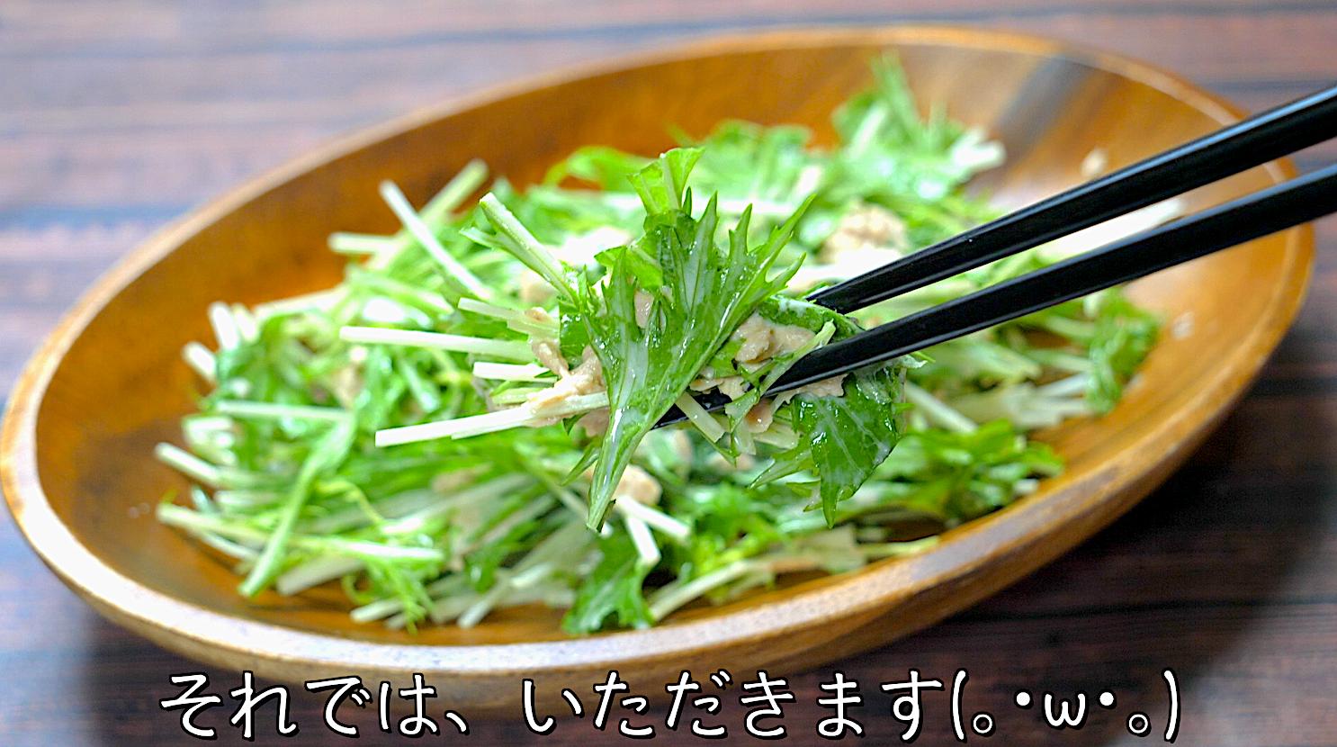 水菜 ツナ缶 サラダ レシピ