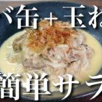 【栄養満点☆】ガス不使用で超簡単!「サバ缶と玉ねぎの和風サラダ」【動画(有)】