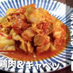 【シンプルな調理なのに最高すぎた⋯♬】「鶏肉とキャベツのガーリックトマト煮込み」の作り方