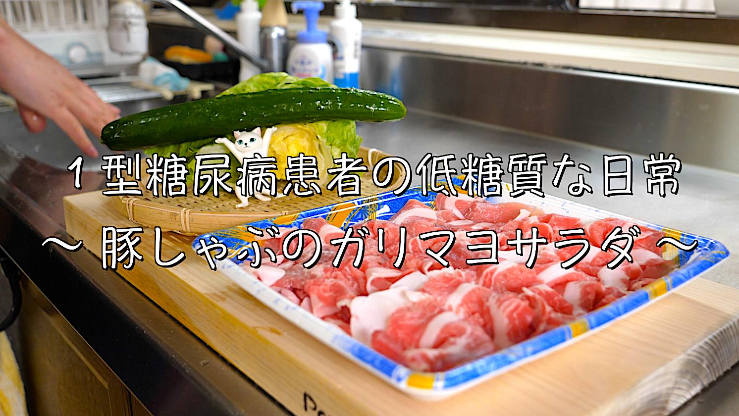 豚しゃぶ サラダ レシピ 低糖質