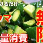【きゅうりの大量消費にオススメ!】ただ漬けるだけなのに⋯。無限にいけちゃう☆「きゅうりのガリポン漬け」の作り方