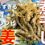 【カルシウムたっぷり!栄養満点☆】「煮干しの生姜漬け」の作り方【低糖質レシピ】