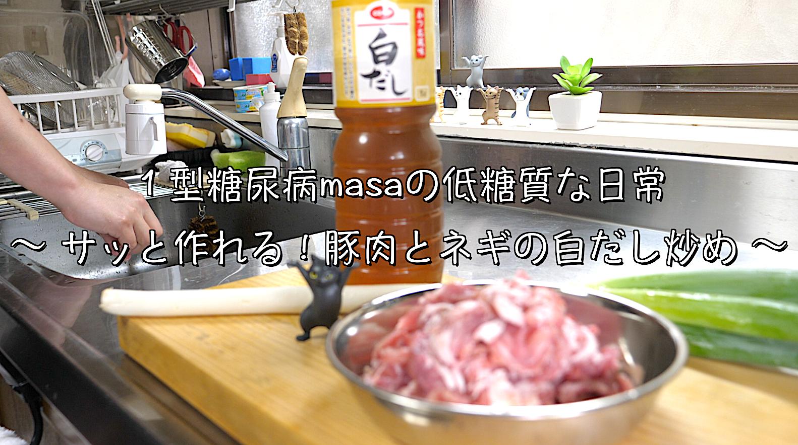 豚肉 白ネギ 白だし レシピ